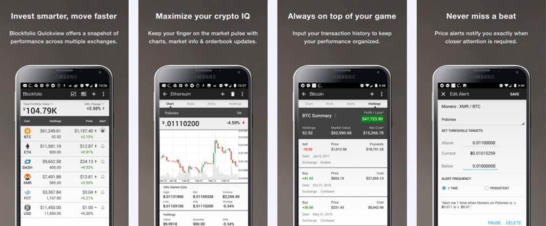 cryptocurrency portfolio tracker blockfolio