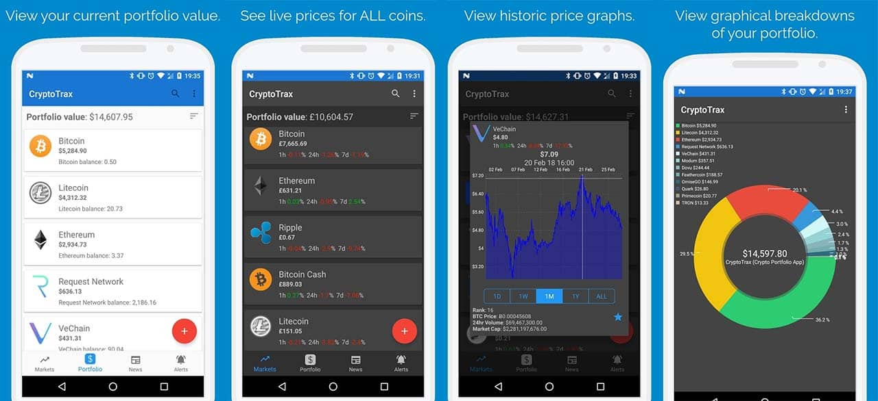 CryptoTrax app