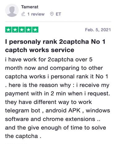Review of 2captcha faucet